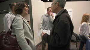 Author, Kimberly Giles with film attendee