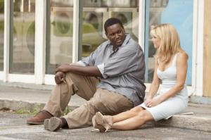 Sandra Bullock and Quinton Aaron in 'The Blind Side'